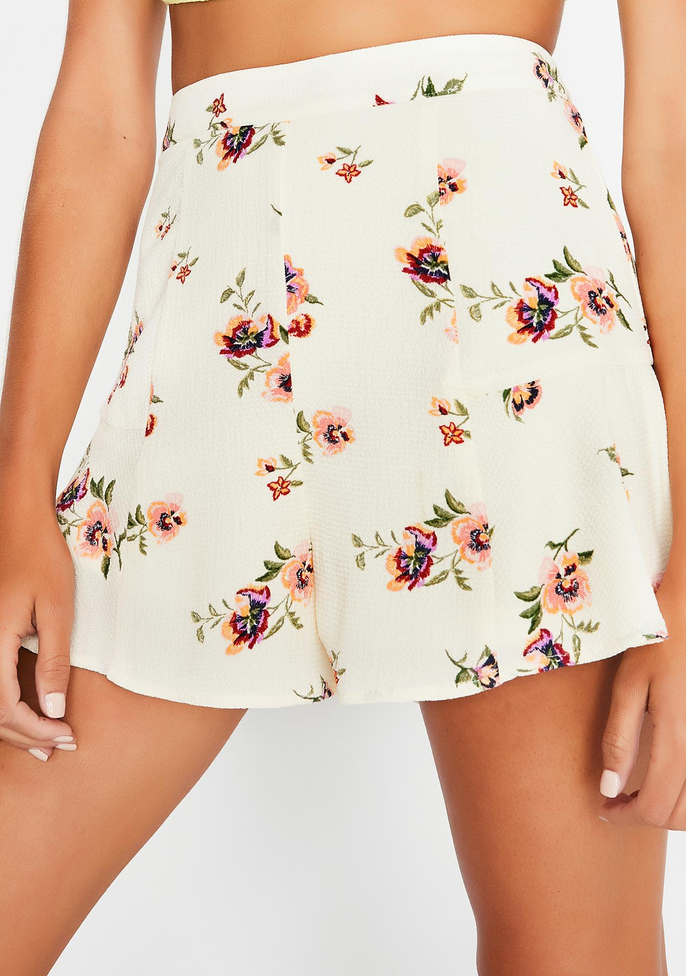 As You Please Floral Shorts