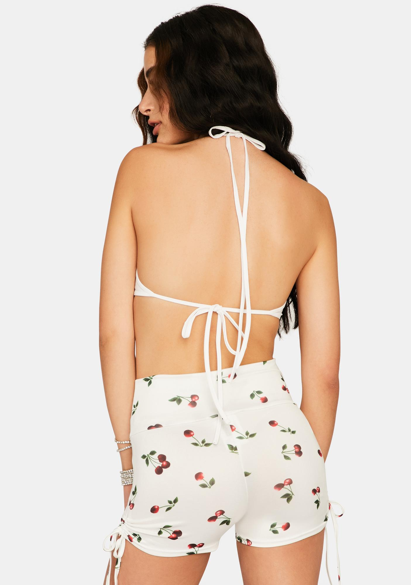 Vanilla Sweet Secrets Ruched Shorts