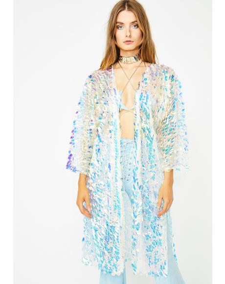 97719ddc076 Jaded London Gold Hologram Sequin Kimono | Dolls Kill