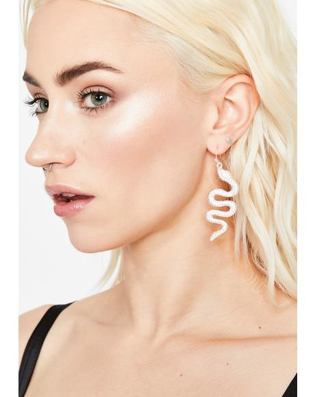 Deadliest Drip Snake Earrings