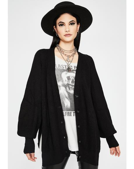 Fixed Risk Oversized Cardigan