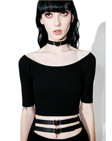 Heart Choker Top