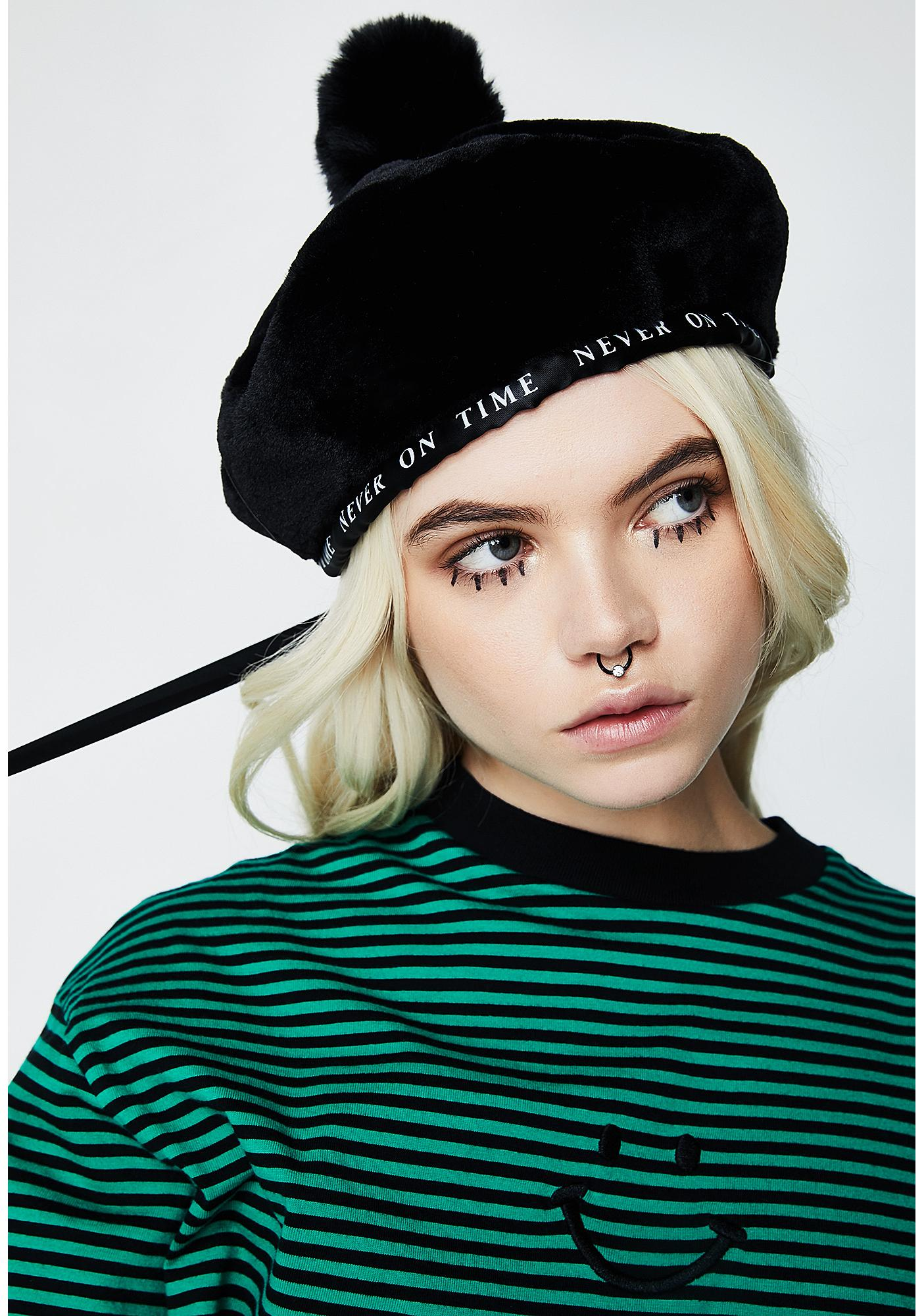 Lazy Oaf Never On Time Beret
