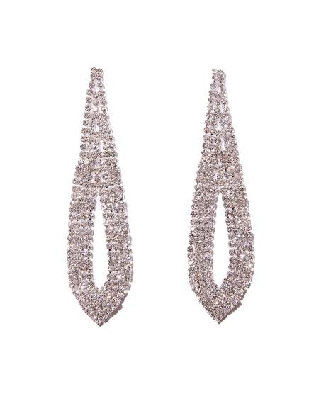 Cry Me A River Rhinestone Earrings