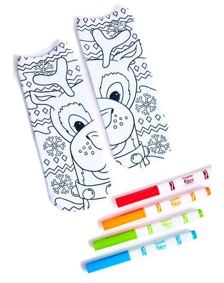 Reindeer Color-In Socks