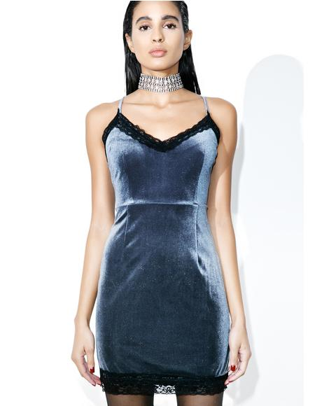 After Party Mini Velvet Dress