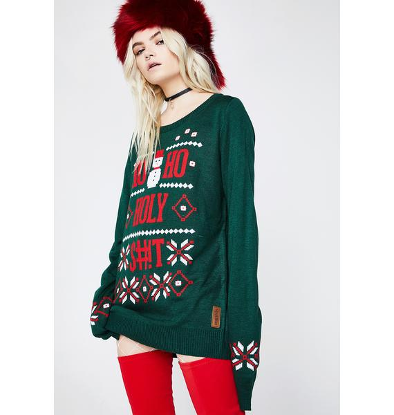 Tipsy Elves Ho Ho Holy Sweater