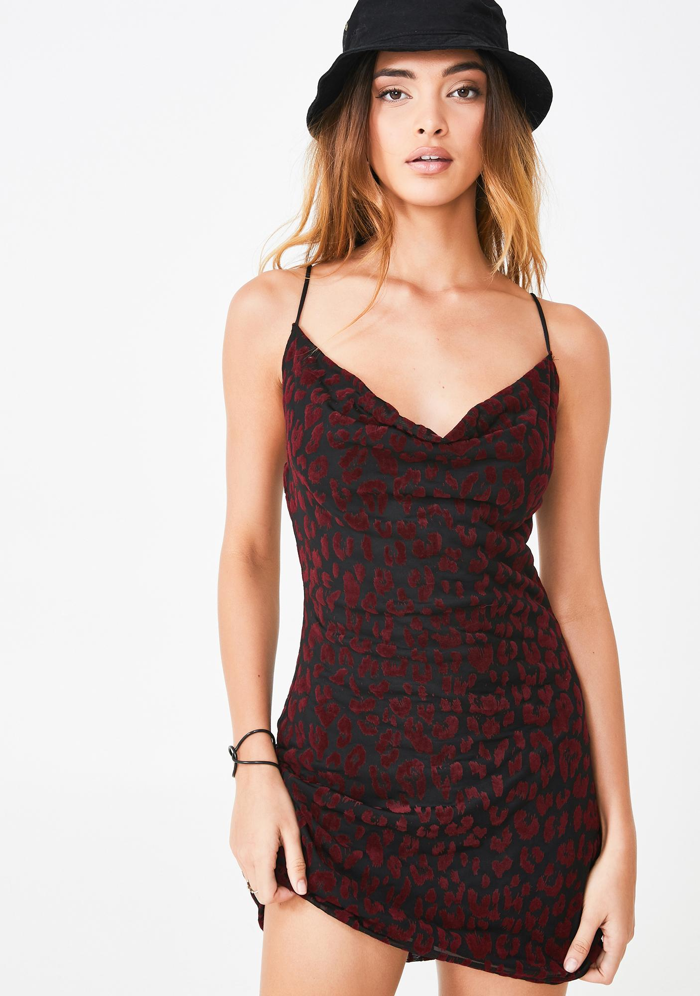 Motel Leopard Becky Mini Dress