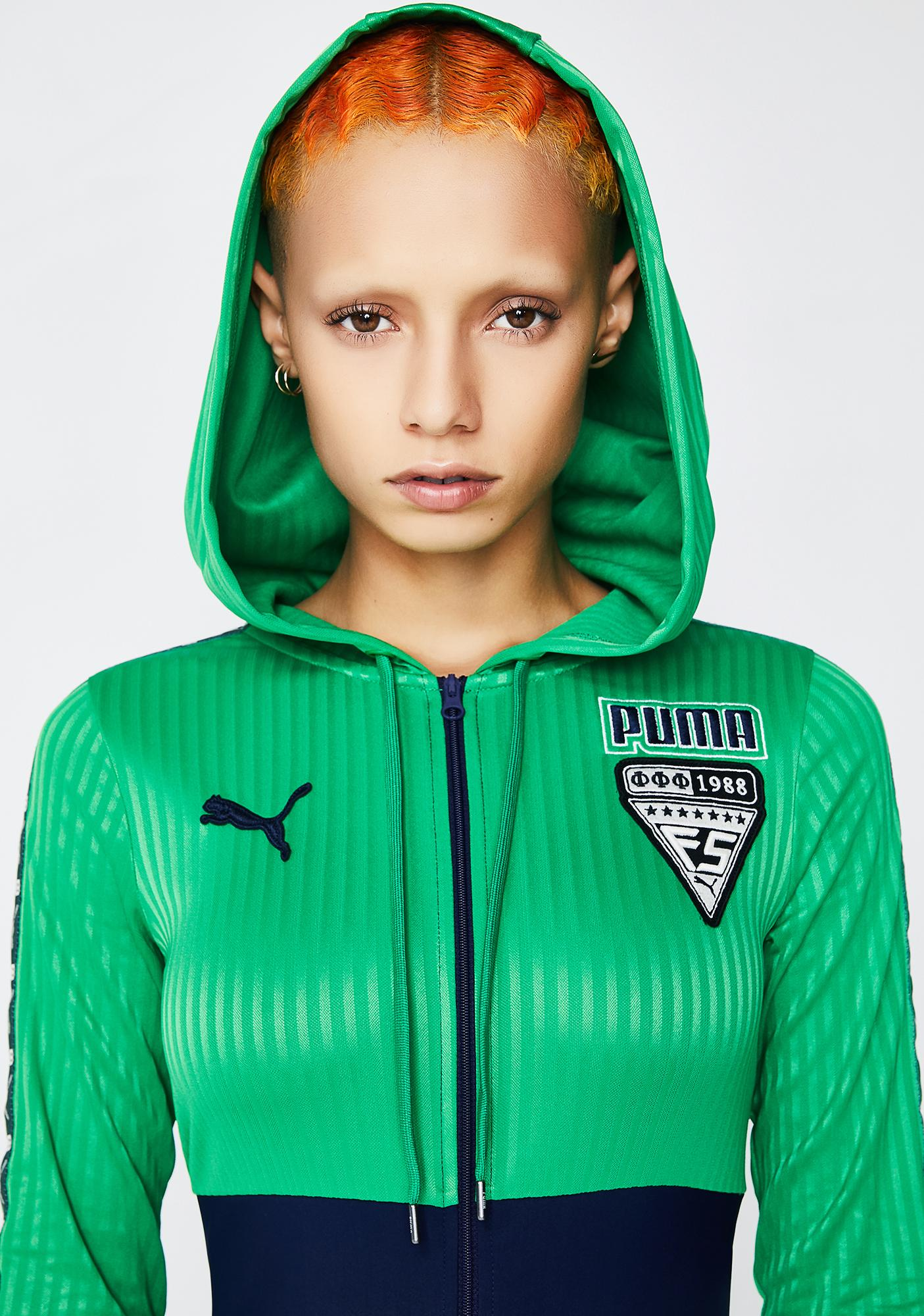 Fenty Puma By Rihanna Hooded Zip Front Leotard Overall