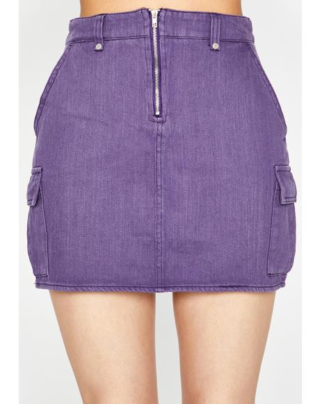 LAFTRE DENIM CARGO MINI SKIRT