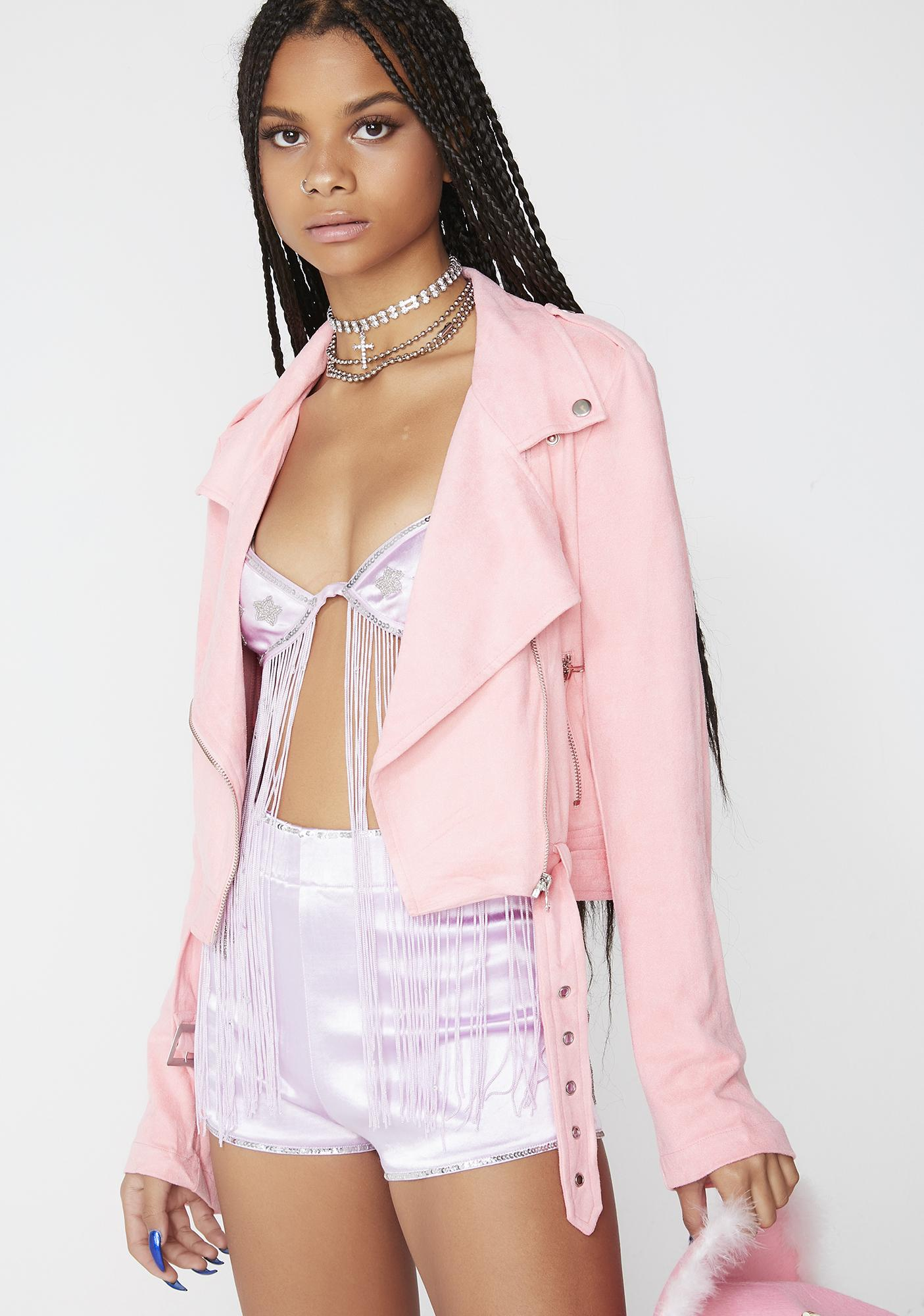 Berry Bitty Babe Moto Jacket