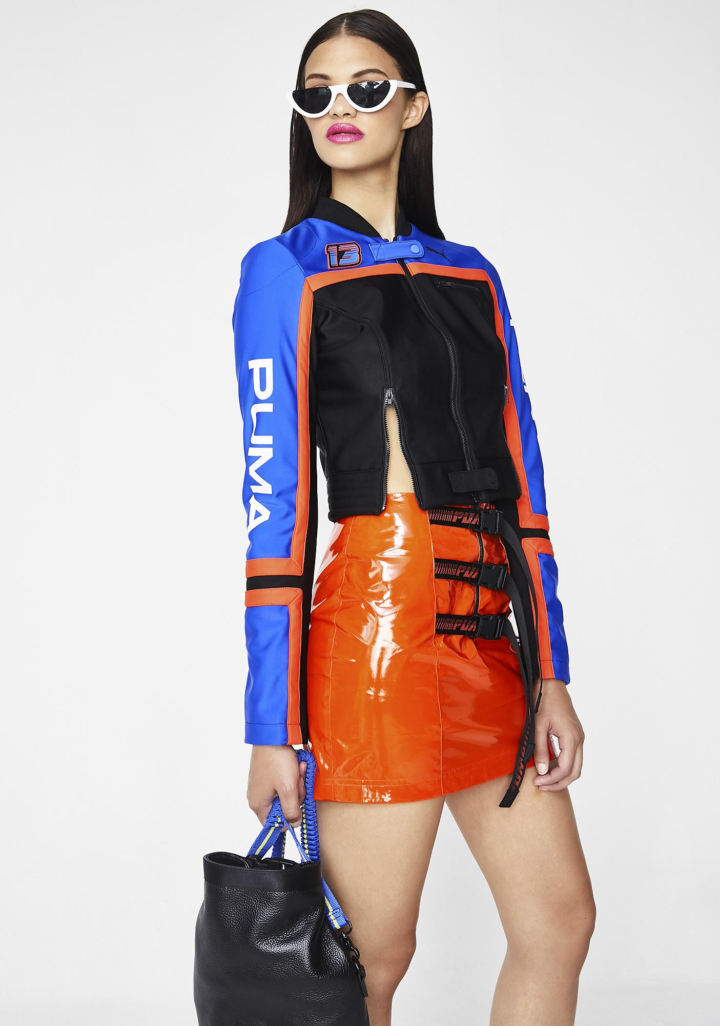 97a34dabd76c ... PUMA FENTY PUMA By Rihanna Scuba Panelled Biker Jacket