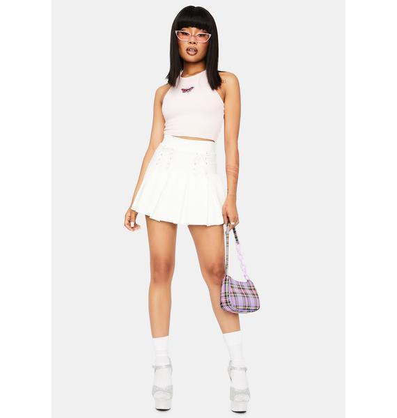 Pure Modern School Girl Pleated Skirt