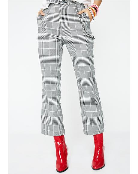 I'm The Boss Plaid Pants