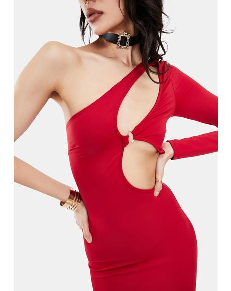 Cherry Loves The Spotlight Cut-Out Mini Dress