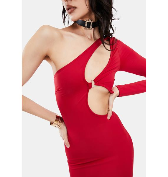 Cherry Loves The Spotlight Cut-Out Mini Dress