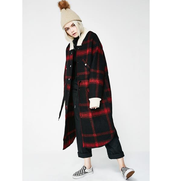 Smart Move Plaid Coat