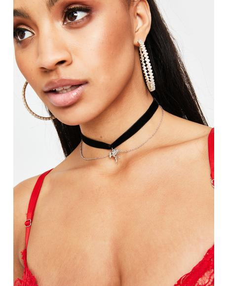 Angel's Delight Skinny Choker