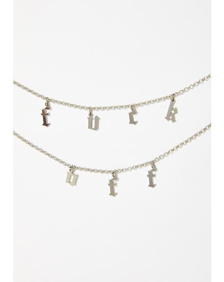 Tell 'Em Off Charm Necklace