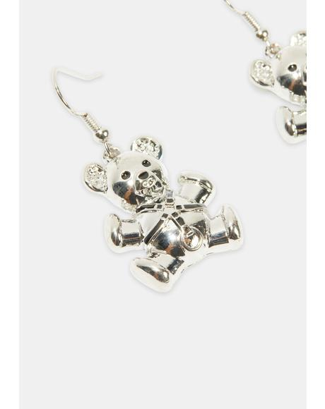 Bondage Buddy Bear Earrings