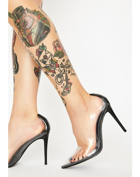 Dark Clearly Feisty Snakeskin Pumps