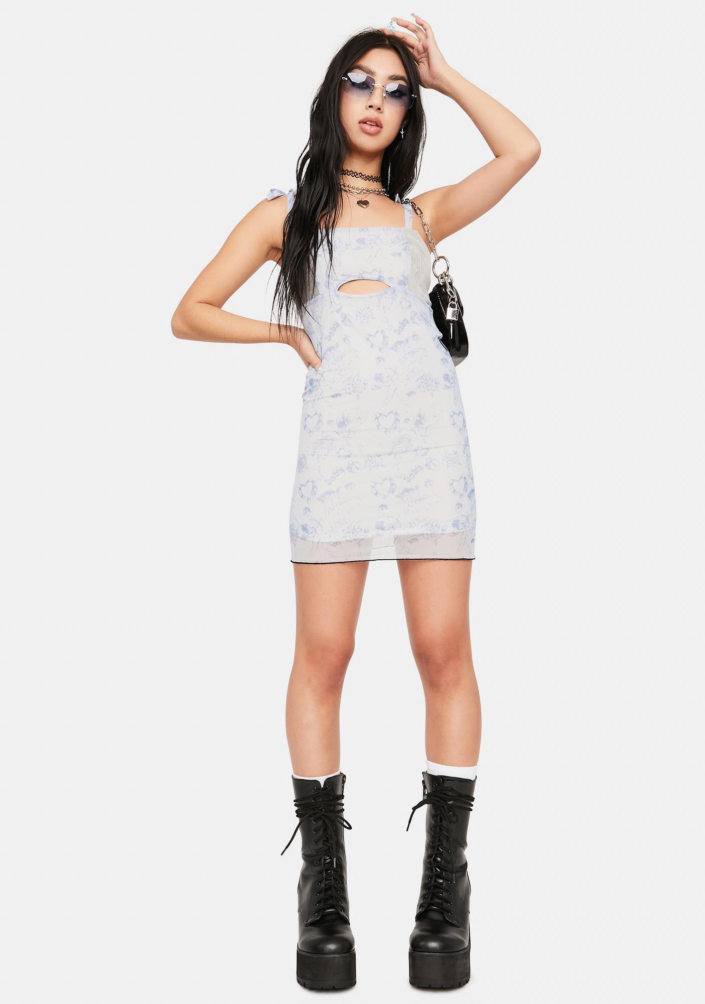 ZEMETA Cupid Love Mesh Mini Dress