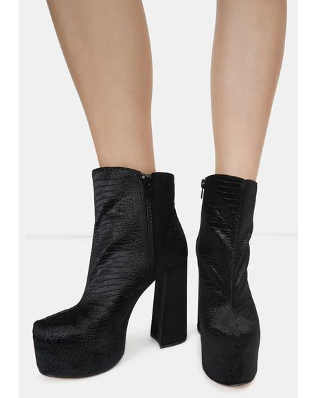 Black Kareen Ankle Boots