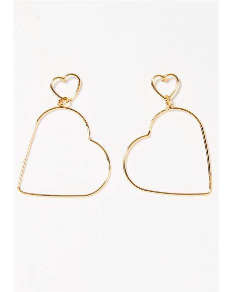 Double The Luv Earrings