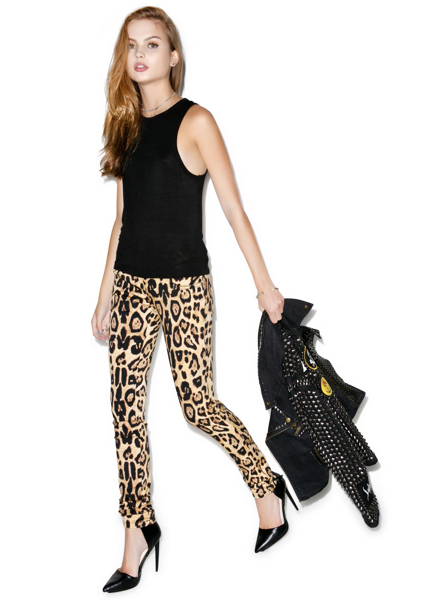 Tripp NYC Leopard Jeans