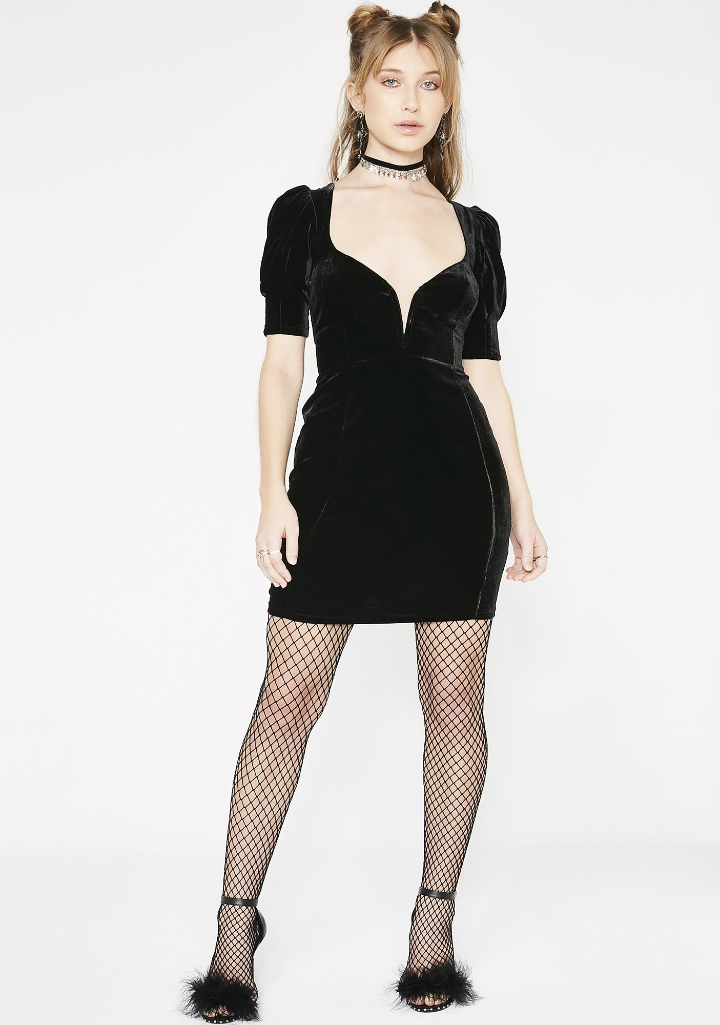 For Love & Lemons Viva Deep V Mini Dress