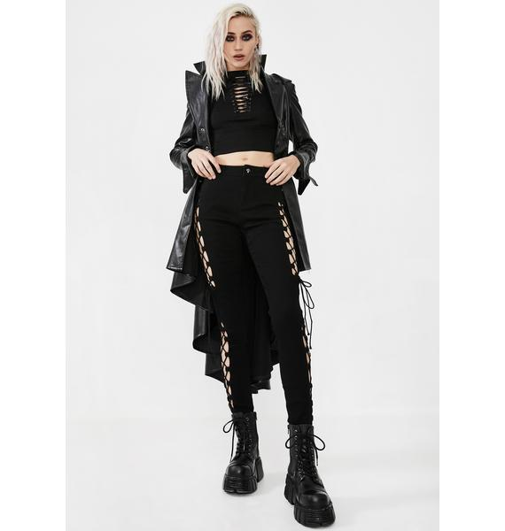 Punk Rave Punk Split Hollow Out Trousers