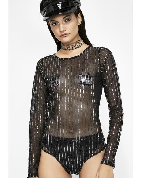 Flashing Lightz Sheer Bodysuit