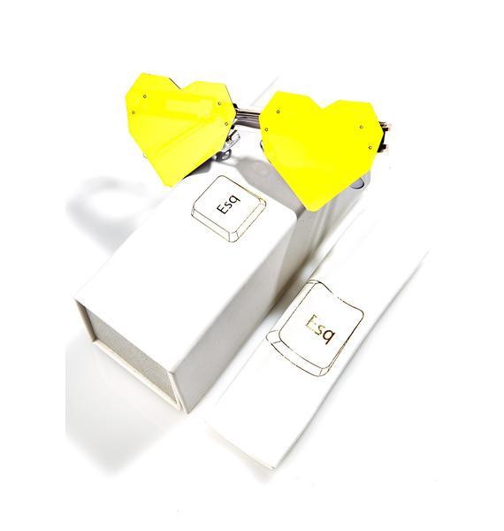 ESQAPE Gold Heart Speqz Sunglasses