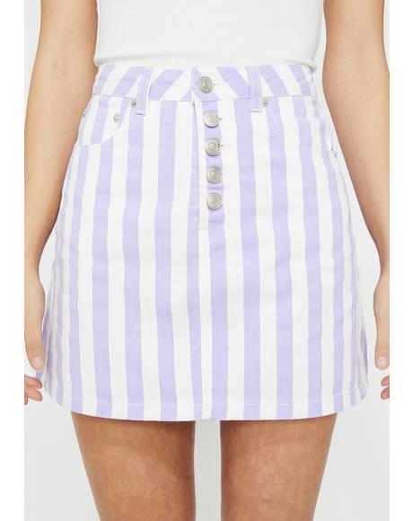 Perfectly Posh Striped Skirt