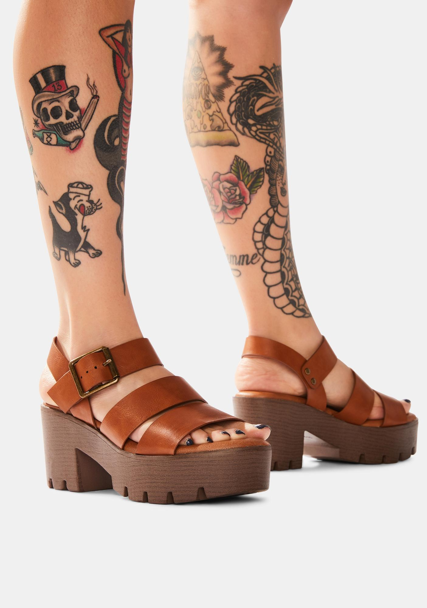 Cocoa Farm To Fable Platform Sandals