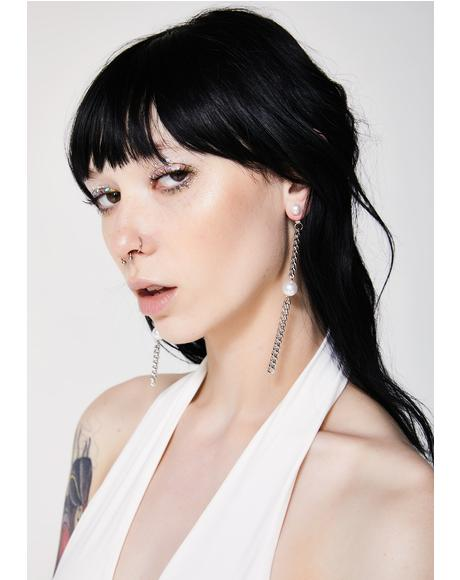Pretty Tough Chain Earrings