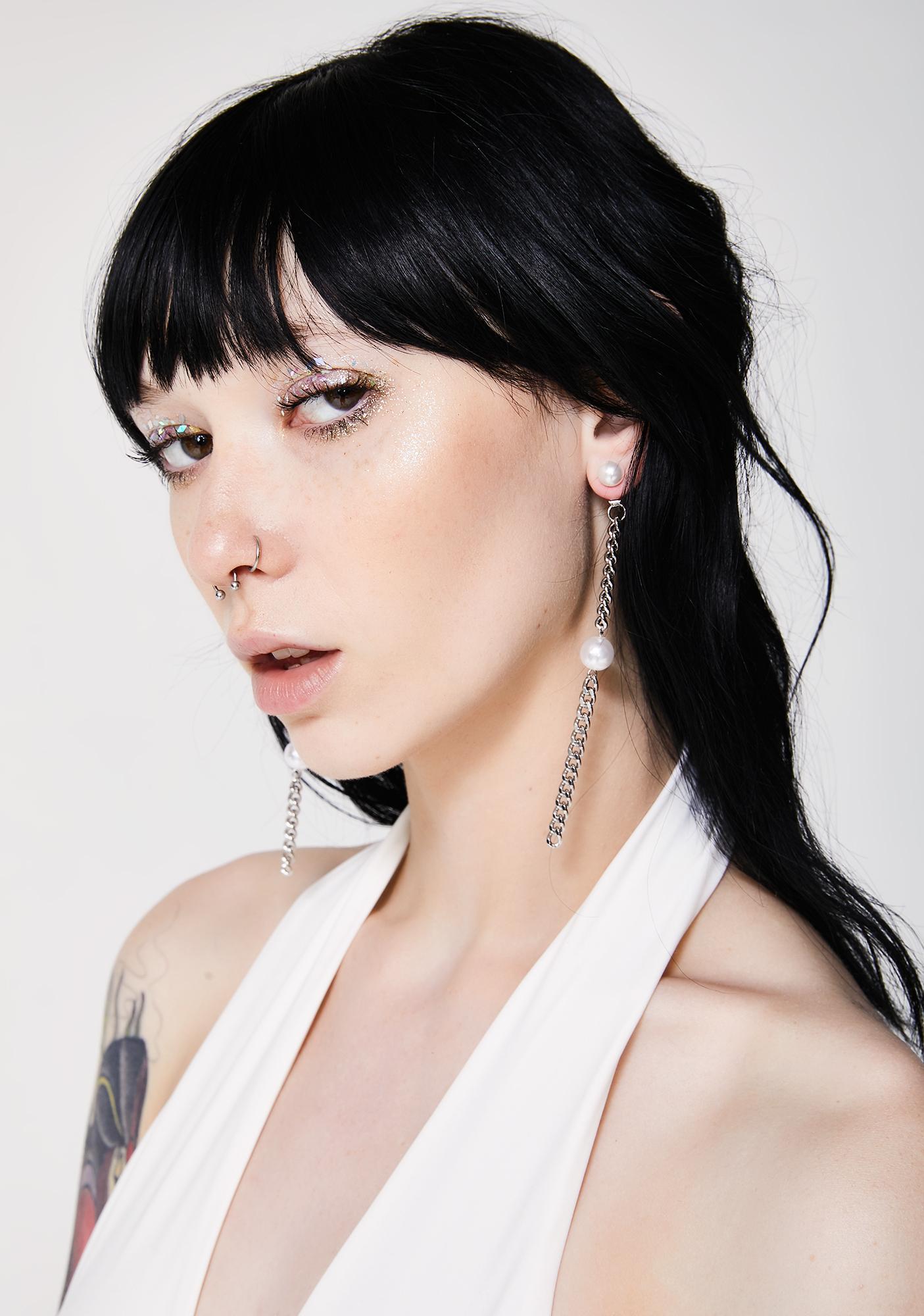 Pretty Tough Chain Earrings