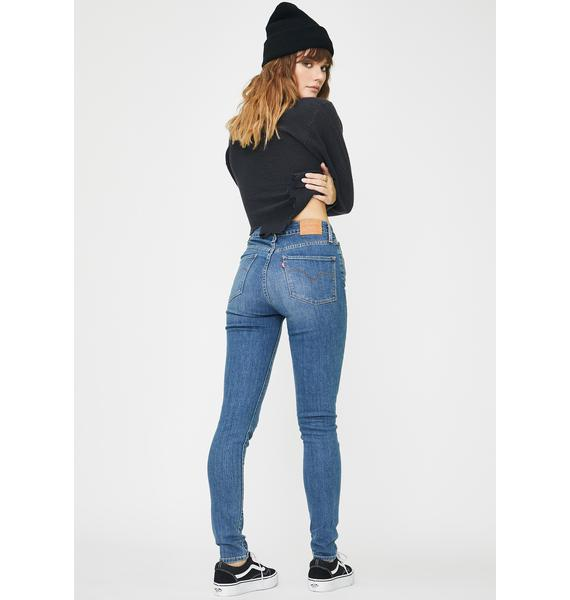 Levis Los Angeles Sun 721 High Rise Skinny Jeans