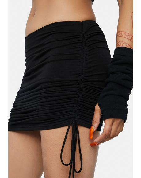 Hit It Off Ruched Mini Skirt