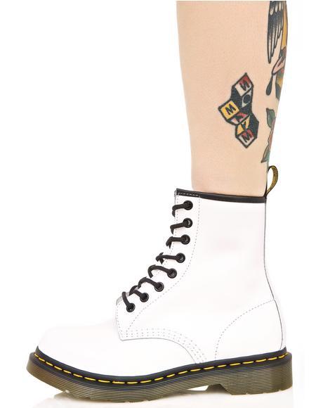 White 1460 8 Eye Boots