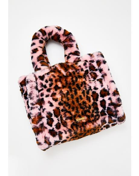 Liza Blushin' Leopard Tote Bag