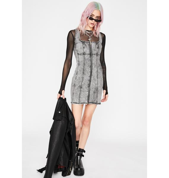 Current Mood Love Or Confusion Denim Dress