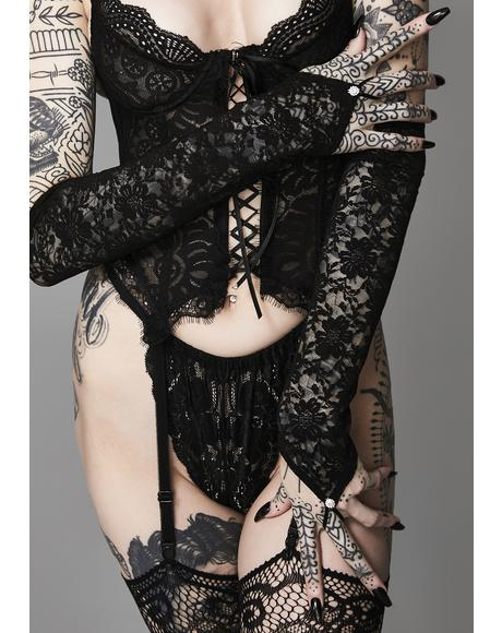 Corrupted Love Lace Gloves