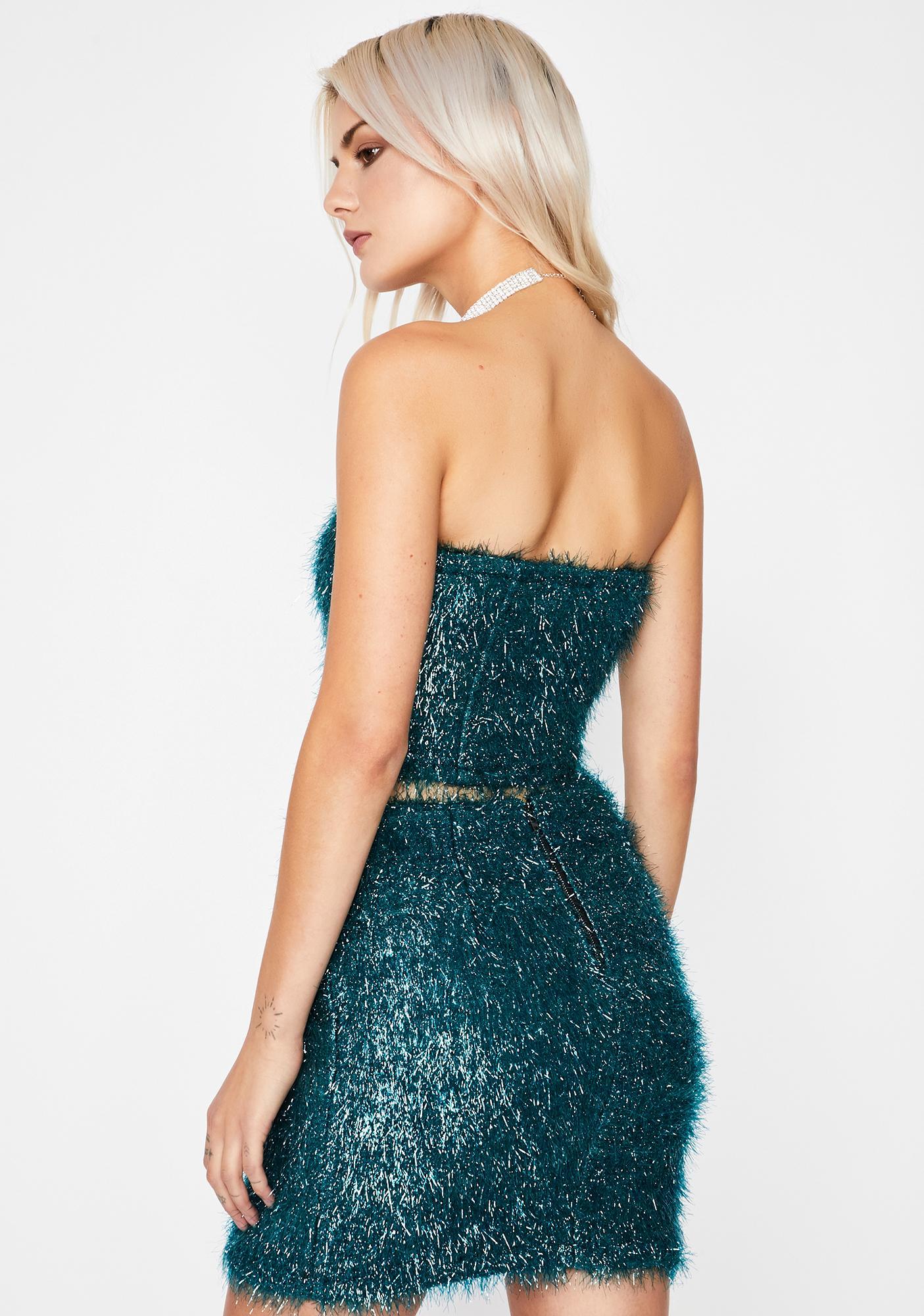 Jade Dance All Night Fringe Skirt