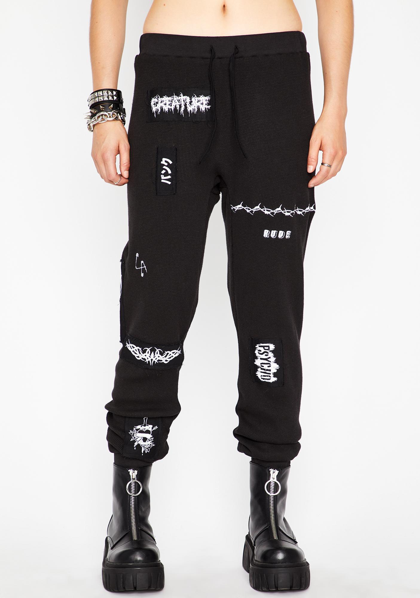 Current Mood Generation Psycho Patched Sweatpants