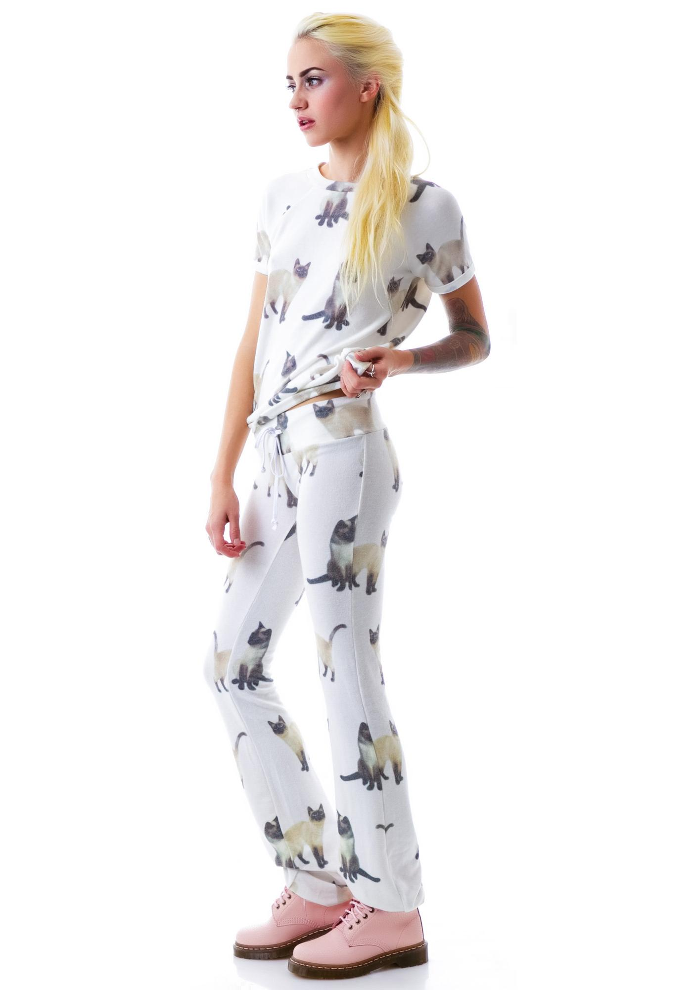 Wildfox Couture We Are Siamese Tennis Club Pants