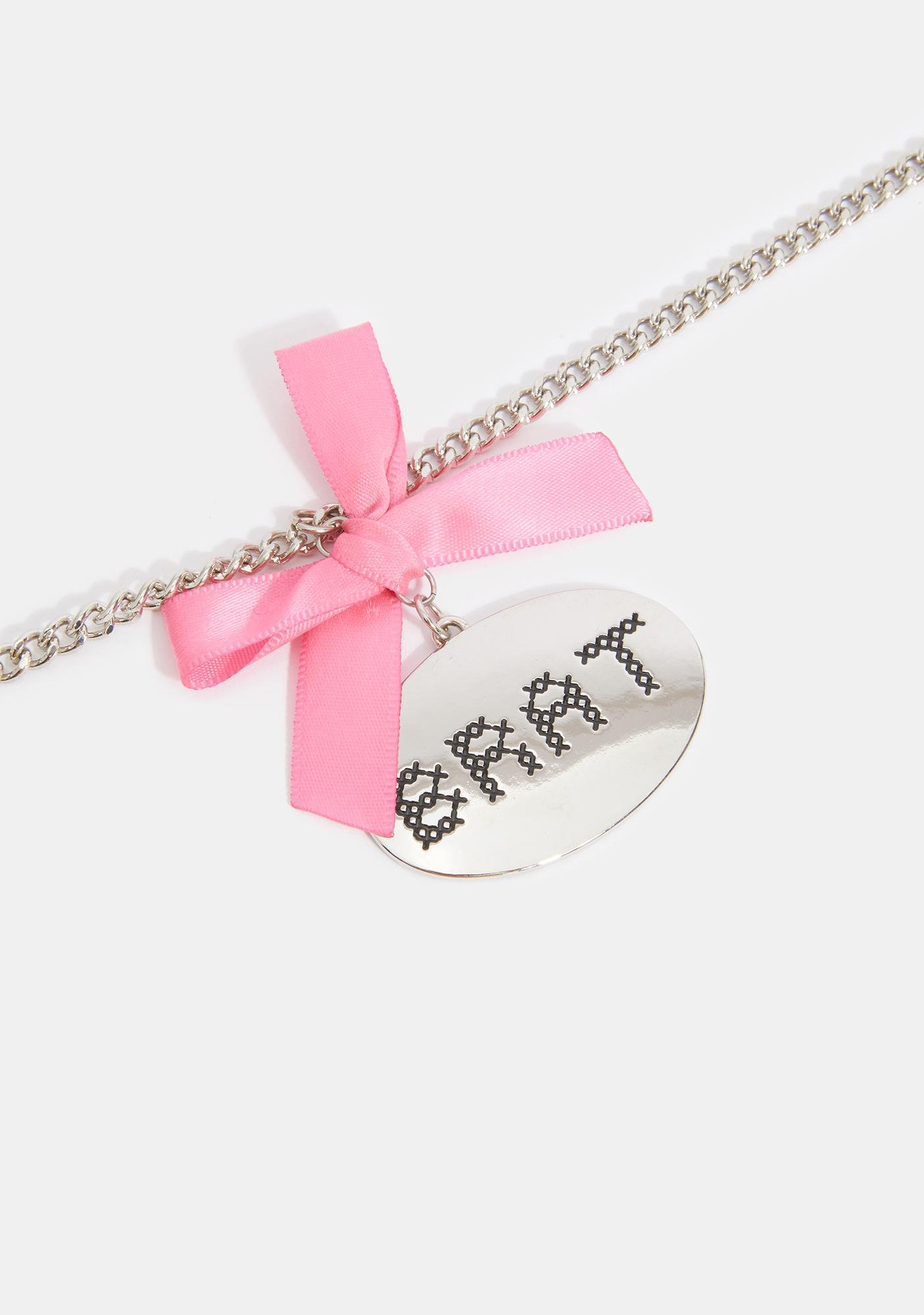 Humble Brat Charm Necklace