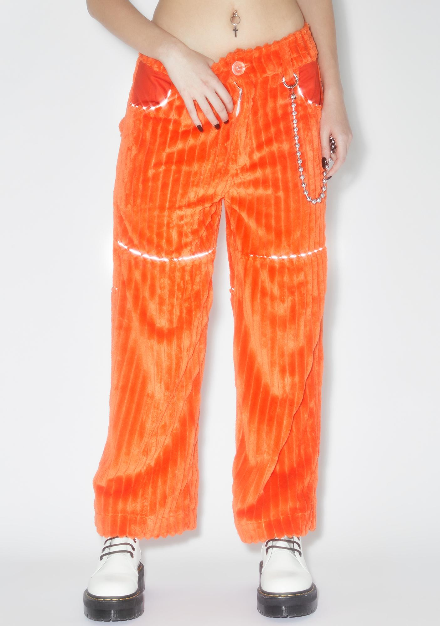Somewhere Nowhere Orange Jumbo Corduroy Pants V.2
