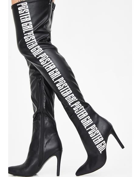 Label Qween Thigh High Boots