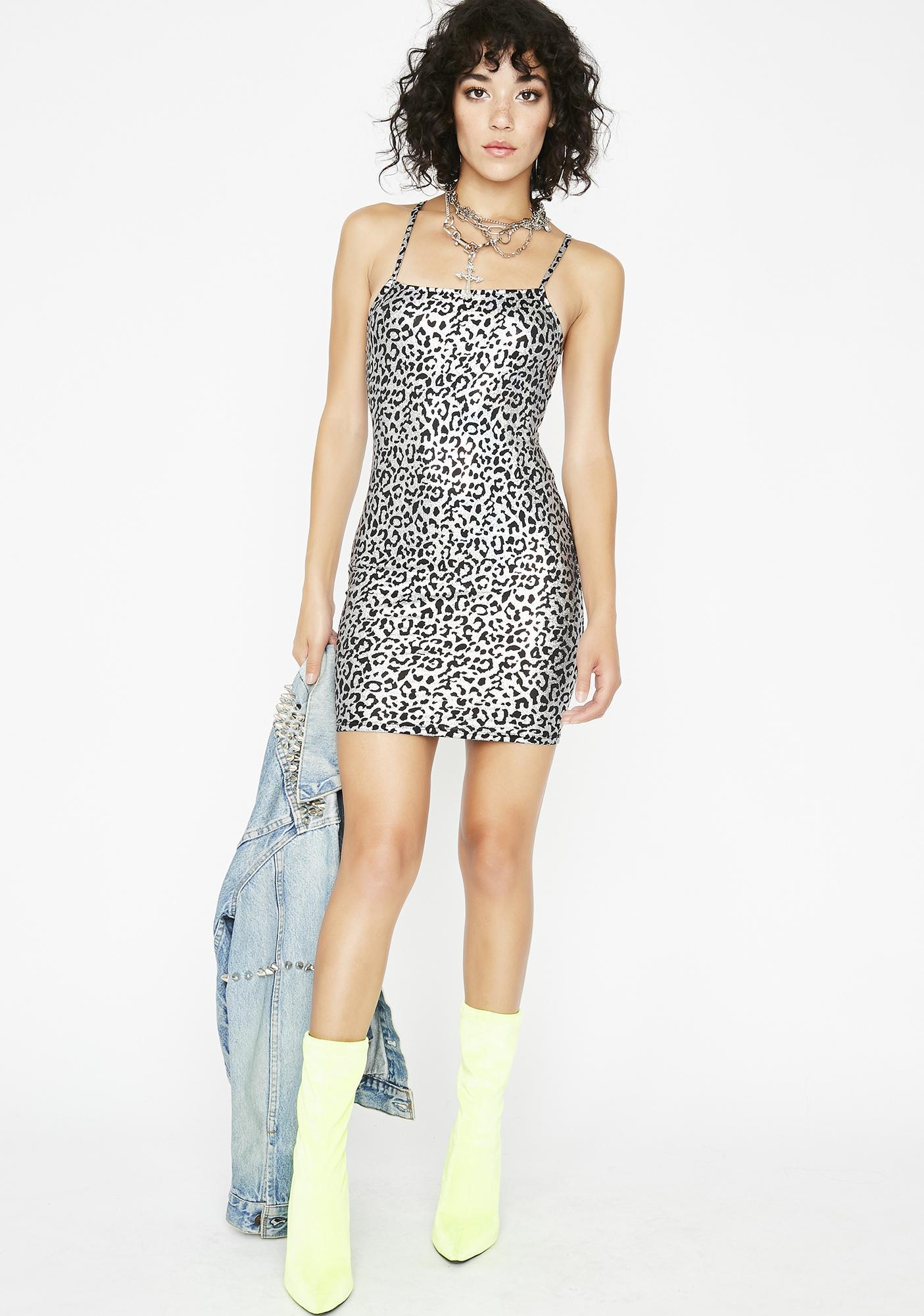 bf567fe43ccd Metallic Leopard Mini Dress | Dolls Kill